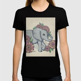 Little Elephant in soft vintage pastels T-shirt