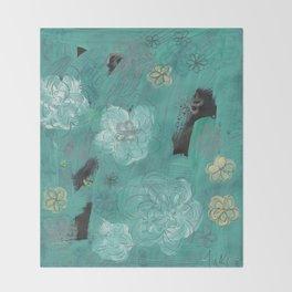 Flower Burst 3 Throw Blanket