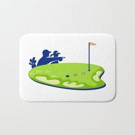 Golfer Caddie Golf Course Retro Bath Mat