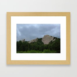 Stormclouds over the Flatirons Framed Art Print