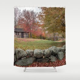 Babson Museum on a rainy October day 10-24-18 Shower Curtain