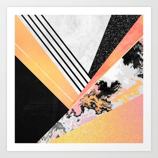 Geometric Summer Art Print