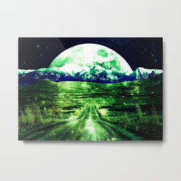 Highway to Eternity  Green Blue Metal Print