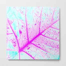 Abstract Tropical Leaf (Close Up) Metal Print