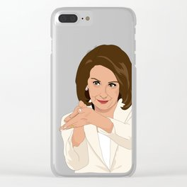 Nancy Pelosi Clap Back Clear iPhone Case