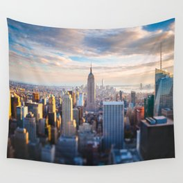 New York City at Sunset Wall Tapestry