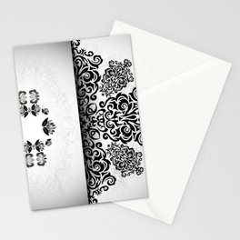 Ornament and grunge texture Stationery Cards