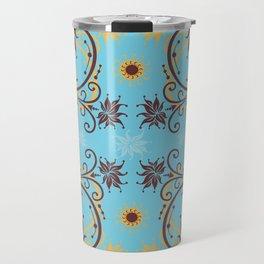 Abstract floral ornament Travel Mug