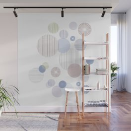 Effervescence in Dusty Blue Wall Mural