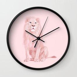PINK LION Wall Clock