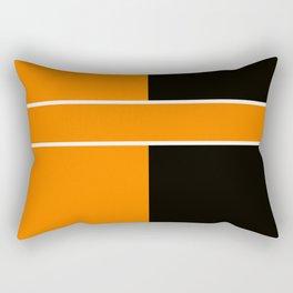 Team Colors 6....Orange,black Rectangular Pillow