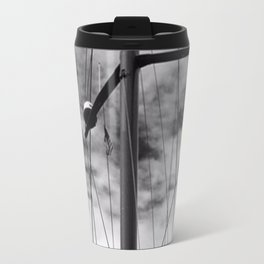 Looking Up into sailing rigging Travel Mug
