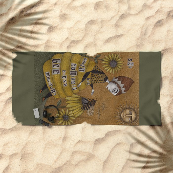 The Conversation Beach Towel
