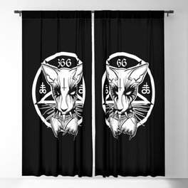 Black Metal Cat Blackout Curtain