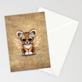 Cute Baby Tiger Cub with Fairy Wings  Stationery Cards