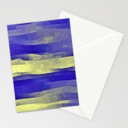 Sun Rays, Wind and Cobalt Sky Abstract Stationery Cards
