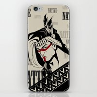 native american iPhone & iPod Skins featuring Native by memo_alatouly