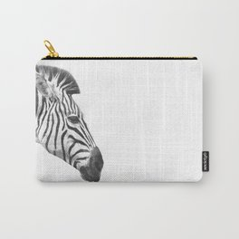 Black and White Zebra Profile Carry-All Pouch