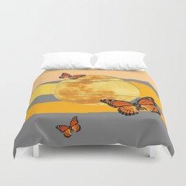 MOON & MONARCH BUTTERFLIES DESERT SKY ABSTRACT ART Duvet Cover