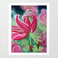 lily Art Prints featuring lily by Beth Jorgensen