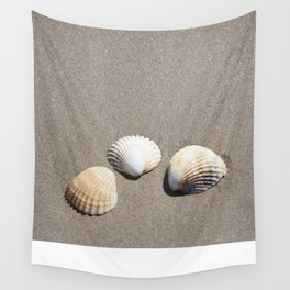 Three Seashells Wall Tapestry