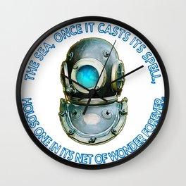 Vintage Diving Helmet Sea Spell Wall Clock