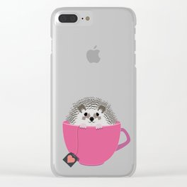 Valentine Heart Hedgehog Clear iPhone Case