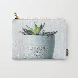 Succulent Flowerpot In Pastel Colors #decor #society6 #buyart Carry-All Pouch