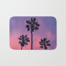 Palm trees and Sunset Bath Mat
