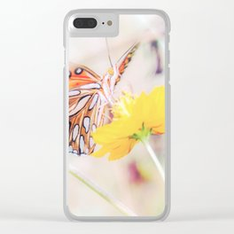 Ethereal Butterfly Clear iPhone Case