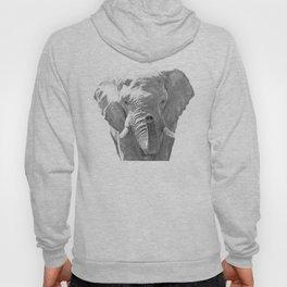 Black and white elephant illustration Hoody