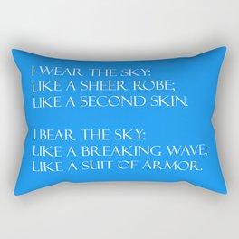 Summer air (blue) Rectangular Pillow