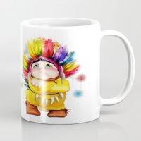 indian Mugs featuring Indian  by tatiana-teni