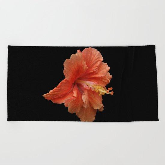 Double Orange Hibiscus DPG160419 Beach Towel
