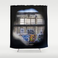 portal Shower Curtains featuring Portal by Calle de Rosa