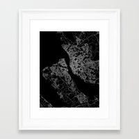 liverpool Framed Art Prints featuring Liverpool by Line Line Lines