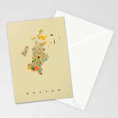 Boston map Stationery Cards
