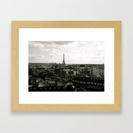 Paris Skyline  Framed Art Print