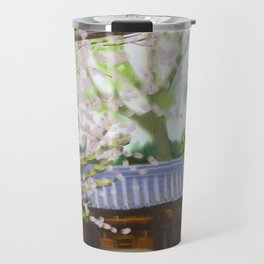 Cherry trees in Japan Travel Mug