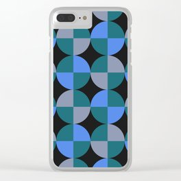 NeonBlu Squares Clear iPhone Case