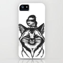 Little Fox & Bluetit (Kleiner Fuchs und Blaumeise) Friends - You & Me iPhone Case
