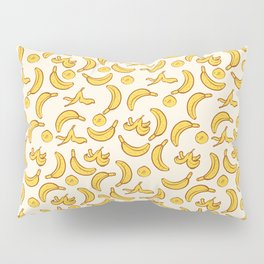 Yellow Banana Pattern Pillow Sham