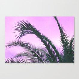 Purple Palm Trees Canvas Print
