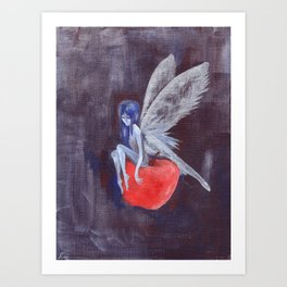 Fairy Loves Apple Art Print