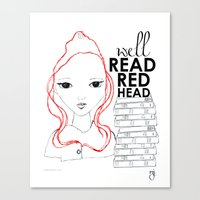 redhead Canvas Prints featuring Redhead by the Twenty5 Project