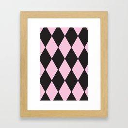 Harlequin pink & black Framed Art Print