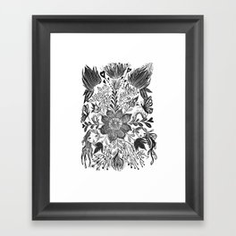 Me and you, day and night in our messy garden Framed Art Print
