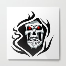 Skull tribal tattoo Metal Print
