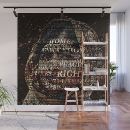 One Book, One Pen, One Child, and One Teacher Can Change The World !!! Wall Mural