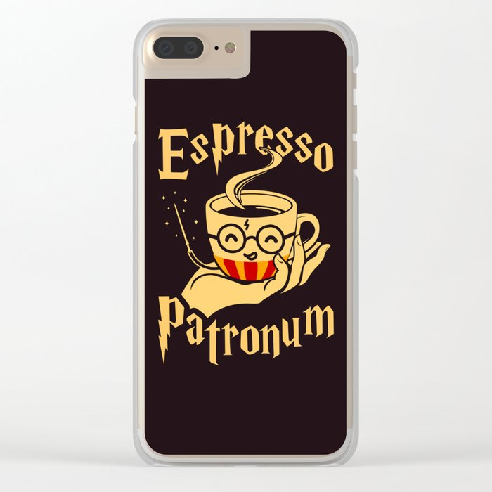 Espresso Patronum Clear iPhone Case